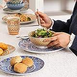 Vancasso Tafelservice Porzellan, Mandala 32 teiliges Essgeschirr Kombiservice, handbemaltes Geschirrset für 8 Personen, böhmischer Stil - 9