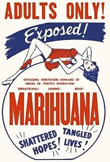 Affiche Prints AD49 Vintage Marihuana Marijuana Anti Drugs Movie Film Advertisement Poster - A3 (432 x 305mm) 16.5