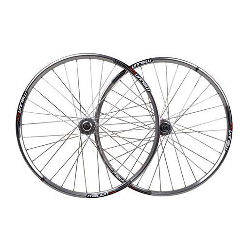 Chicti bicicleta de montaña juego de ruedas 26 doble pared aleación de aluminio freno de disco Ciclismo ruedas 32 agujero llanta liberación rápida 7/8/9 Cassette ruedas