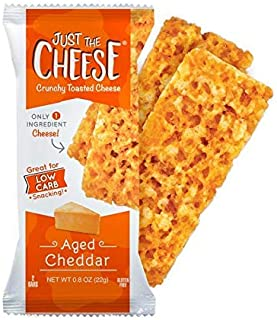 Just the Cheese Bars 10-pack, Crunchy Baked Low Carb Snack Bars. 100% Natural Cheese. High Protein and Glut...