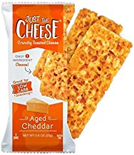 Just the Cheese Bars, Crunchy Baked Low Carb Snack Bars. 100% Natural Cheese. High..