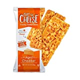 Just the Cheese Bars 10-pack, Crunchy Baked Low Carb Snack Bars. 100% Natural Cheese. High Protein and Gluten Free (Aged Cheddar)