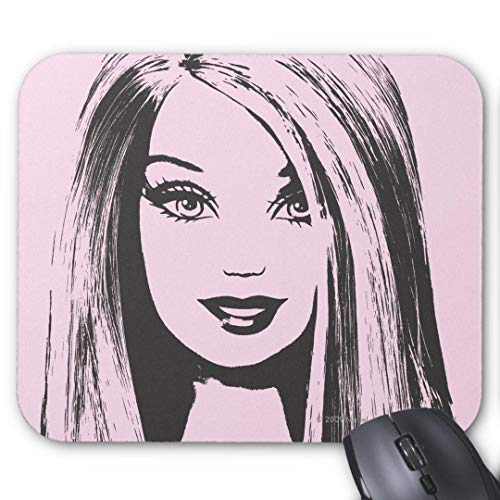 Mousepad - Alfombrilla de ratón Antideslizante de Goma para Ordenador, portátil, Barbie, sin Flequillo