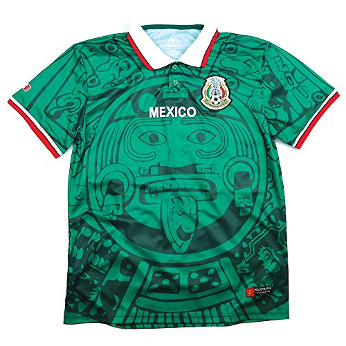 MadStrange Mexico Retro 1998 Soccer Jersey (5XL) Green