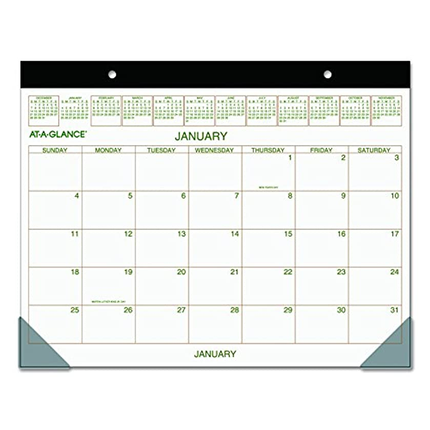 AT-A-GLANCE Desk Pad Calendar 2017, Monthly, Recycled, 21-3/4 x 17
