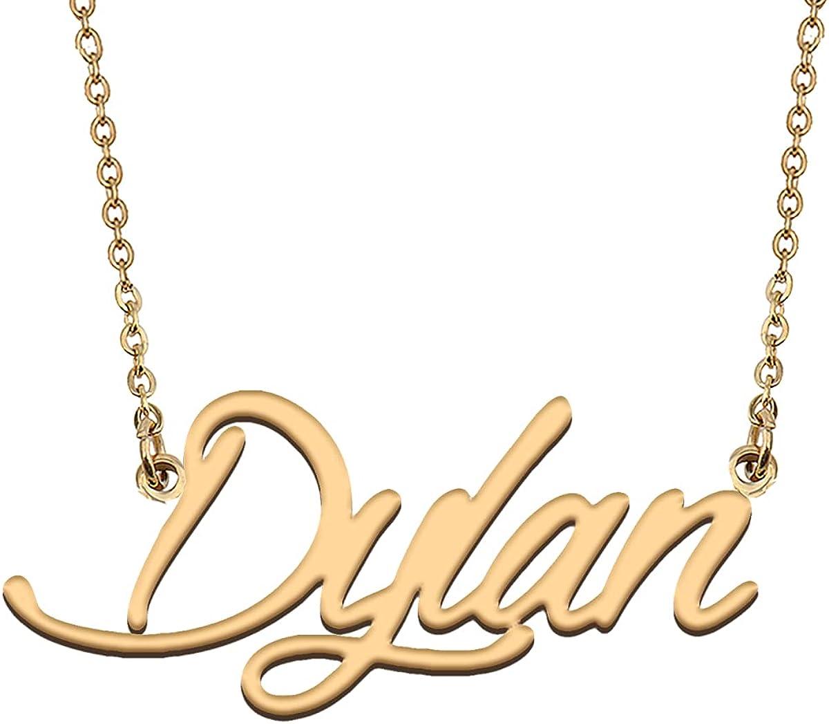 HUAN XUN Personalized Jewelry Custom Initial Pendant Custom Name Necklaces for Women Girls