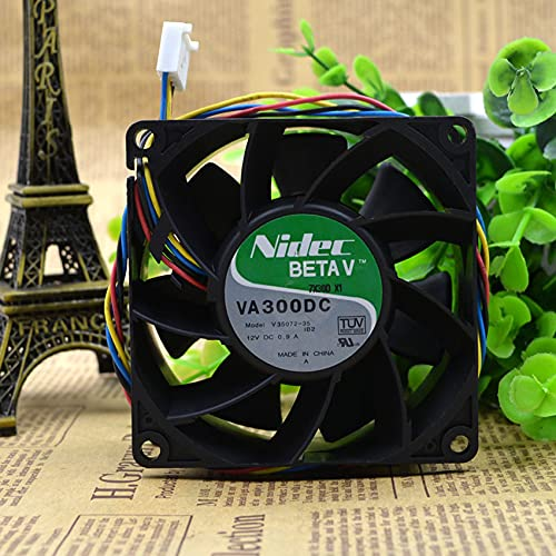 VA300DC V35072-35 DC12V 0.9A 8038 4-Wire For IBM Chassis Cooling Fan