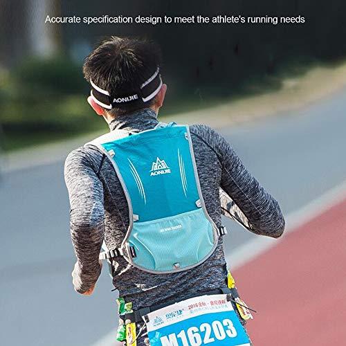 AONIJIE Hydration Pack Rucksack Marathoner, Laufen, Rennen, Trinkrucksack mit Trinkrucksack, blau, no Bladder - 7