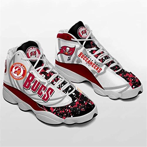 Jerseys Buccaneers Fans Zapatos Zapatillas American Football LeagueComo Fanáticos(Size:Men's shoes46,Color:G1)