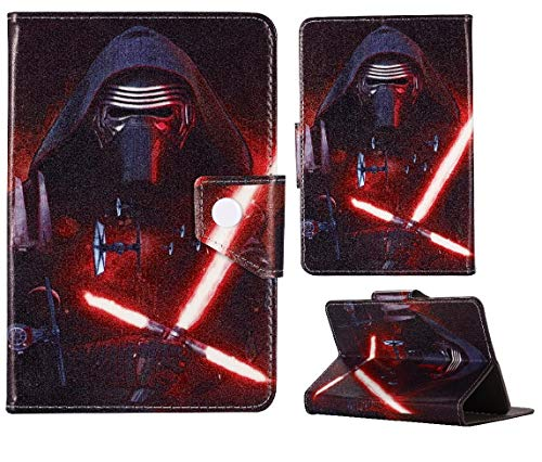 Super Hero & Princesses ~ Universal Tablet Cover ~ For Kids Boys & Girls ~ (Universal 10' (10.1' Inch), Darth Vader)