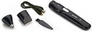 DeeploveUU 旅行の使用のための1つの多機能の電気ひげ剃りUSBの再充電可能な携帯用小型鼻の耳のトリマーかみそりに付き3つ