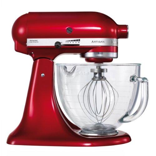 "KitchenAid 5KSM156ECA Küchenmaschine mit kippbarem Motorkopf Serie\""Artisan\"", Liebesapfel rot"