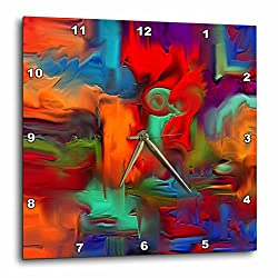 3dRose DPP_4053_3 Digital Artwork Design Wall Clock, 15 by 15-Inch
