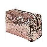 Cosmetic Bag, Pocciol Sequins Handbag Outdoor Teenage Style Shoulder Bag Tote Ladies Purse (Gold)