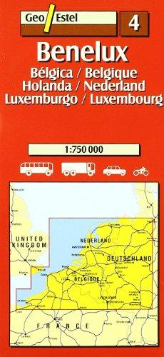 Benelux. Bélgica- Holanda - Luxemburgo / Belgique- Nederland-Luxembour (Mapas de carreteras. Comunidades autónomas y regio)