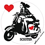 1art1 Motorroller - Scooter Girl Poster-Sticker Tattoo