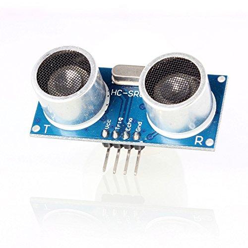 Aukru 4-Pin Ultraschall- Modul HC-SR04 Abstand Messung Wandler Sensor für arduino