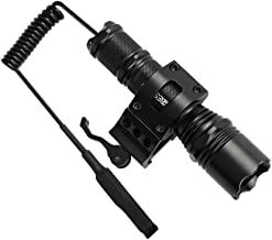BESTSUN Tactical Flashlight 1200 Lumen Super Bright Hunting Light with Quick Release Picatinny Rail Offset Mount for AR15, Pressure Switch, Rechargeable Batteries Included