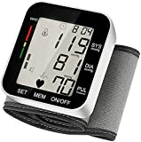 Blood Pressure Monitor, Fully Automatic Digital Wrist Blood Pressure Cuff Monitor, Irregular Heartbeat Detector & 2x99 Readings Memory Function for Home Use