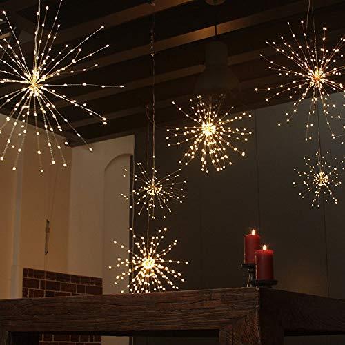 Gaddrt Navidad 200 LED luz Fuegos Artificiales lámpara Cadena de luz Exterior Patio iluminación decoración
