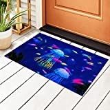 Felpudo de interior para acuario, medusas y peces de algas marinas, antideslizante, 15.7 x 23.6 pulgadas