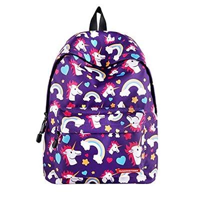 PROTAURI Mochilas Escolares Unicornio Niña - Mochila Ligera para Niños para Estudiantes de Primaria, Mochila para Adolescentes