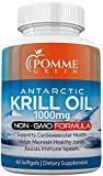 Krill Oil by Pomme Green Nutrition, 1000 mg, Omega 3, Anti-Inflammatory, Toxin Free, Easily Absorbed, EPA, DHA, GMP Certified, Astaxanthin Phospholipids, Made in USA, 60 Capsules (1 Month Supply)
