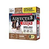 Advecta 3 Flea and Tick Topical Treatment, Flea and Tick Control for Dogs, X-Large over 50lbs, 4 Month Supply