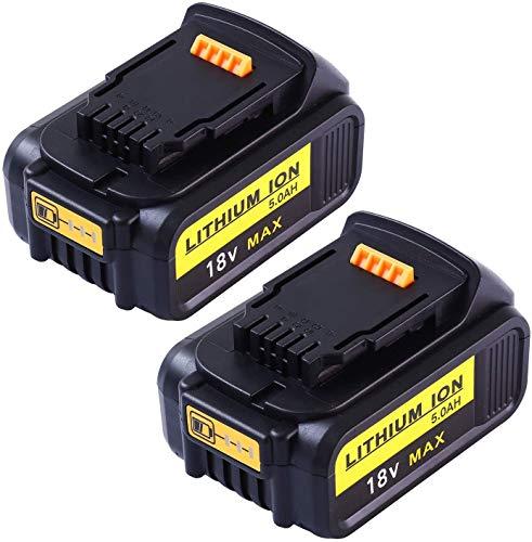 Sostituzione Gatopower 2Pack 5000mAh per Dewalt batteria 18V DCB184B-XJ DCB183 DCB183-XJ DCB182 DCB182-XJ DCB181 DCB181-XJ DCB185-XE DCB200