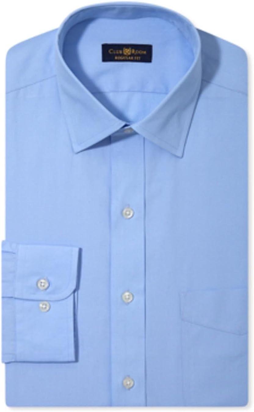 Club Room Men's Regular Fit Dress Shirt, Rich Blue 17 34-35