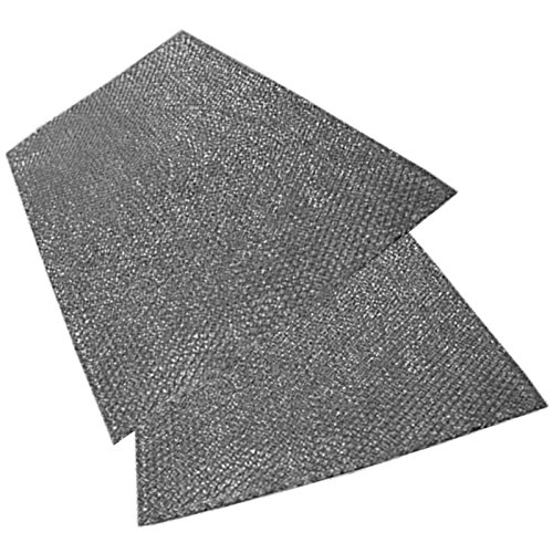 SPARES2GO groot aluminium gaasfilter voor Smeg afzuigkap/afzuigkap Ventilator Ventilator (Pak van 2 filters, 92 x 47 cm)