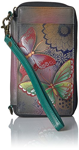Anna by Anuschka Smartphone-Hülle und Portemonnaie, (Schmetterlingsparadies), Einheitsgröße