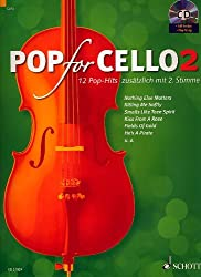 Schott-partitions pour 12 chants Pop avec arrangiamento pour Violoncelle Solo duo (/) Titre : for Pop Cello vol.2
