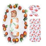 Velidy Baby-Schlafsäcke mit Stirnband 100% kuschelweicher Baumwolle   Babyschlafsack Kinder-Schlafsack, Baby-Decke, Baby-Fußsack, Swaddle, Puck-Sack (Schlafsäcke+ Stirnband (Frucht))
