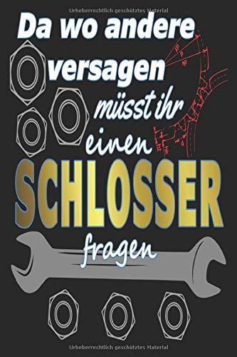 Schlosser Notizbuch: Notizbuch für Zeichnungen und Skizzen für Schlosser und Industriemechaniker | 120 Seiten