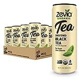Zevia Organic Sugar Free Ice Tea, Black Tea, 12 Ounce Cans (Pack of 12)