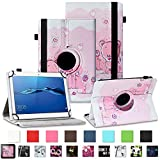 NAUC Tablet Tasche für Huawei Mediapad X2 Hülle Schutzhülle Cover Schutz Hülle Drehbar, Farben:Motiv 1