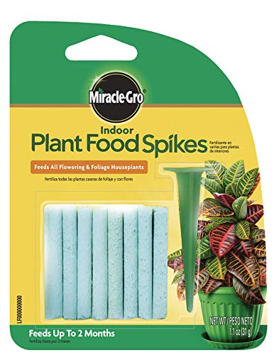 Miracle-Gro Indoor Plant Food Spikes, Includes 24 Spikes - Continuous Feeding for all Flowering and...