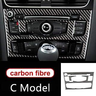 HDCF Für A4 B8 A5 Zubehör Kohlefaser Auto Innenraum Klimaanlage CD Bedienfeld Auto Styling Aufkleber (C Modell)