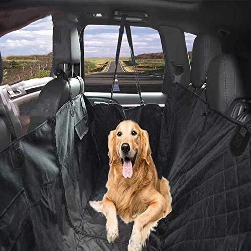 HIGHKAS Funda para Asiento Coche para Perros Alfombrilla para Coche para Mascotas Suministros para Mascotas Asiento Trasero para Perro Fila Viaje Desmontable Resistente a arañazos Antideslizante La