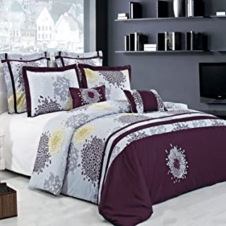 8PC Embroidered Queen FiFi Comforter Set 100% Cotton