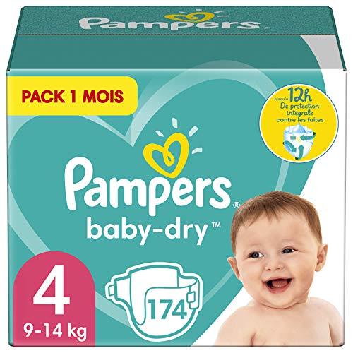 Pampers Baby-Dry, Pannolini, Taglia 4 ( 9-14 kg), Confezione da 174 pezzi, l'imballaggio può variare