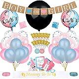 Yuccer 103 Pezzi Gender Reveal Party Baby Shower Decorazioni con Palloncino Banner di Ragazzo o...