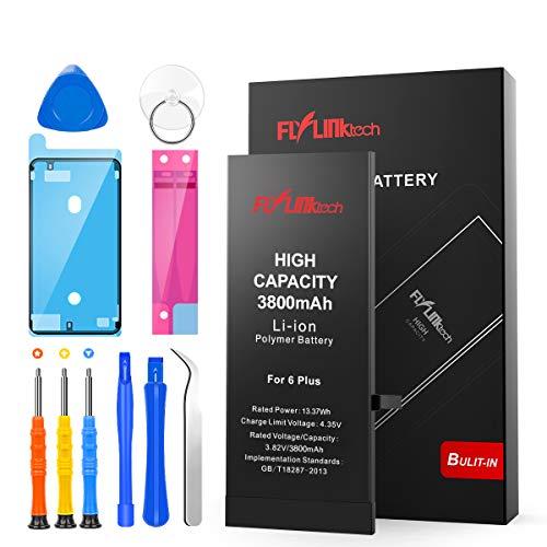 Batería para iPhone 6 Plus 3800mAH con 31% más de Capacidad Que la batería Origina, FLYLINKTECH Reemplazo de Alta Capacidad Batería para iPhone 6 Plus con Kits de Herramientas de reparación