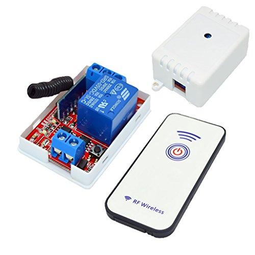 gazechimp Interruptor de Control Remoto de RF de 5 Canales Y 1 Canal 433M con 1 Botón + Módulo Receptor
