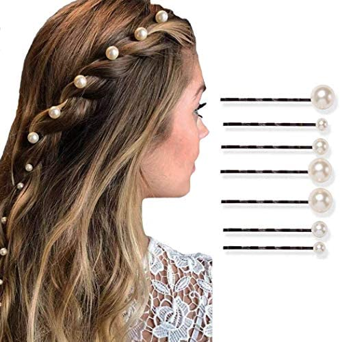 Bartosi Pearls Bobby Pins Hair Clips Silver Hair Barrettes Hairpin Accessories for Women and product image