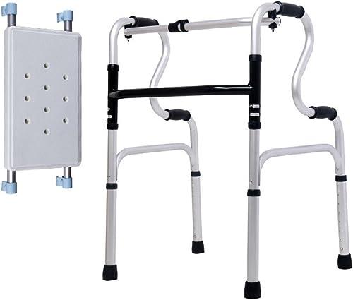 GEGEQUNAERYA Walker en Aluminium et déambulateur Canne à Quatre Pieds avec Plaque d'assise