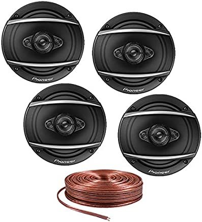 "$109 » Pioneer (2 Pairs) TS-A1680F 6.5"" 4-Way 350W A-Series Coaxial Speakers w/Free 16 Gauge 25ft Speaker Wire"