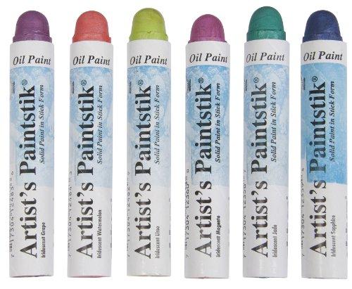 Jack Richeson 121307 Shiva Oil Paintstik, Iridescent Tropical Colors, Set of 6