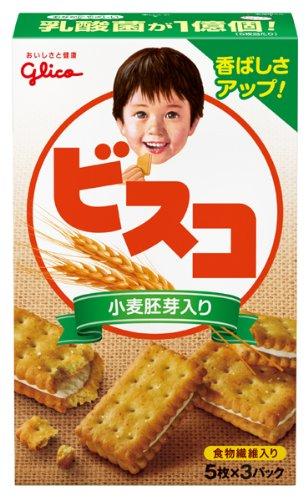 江崎グリコ ビスコ 小麦胚芽入り 15枚×10箱